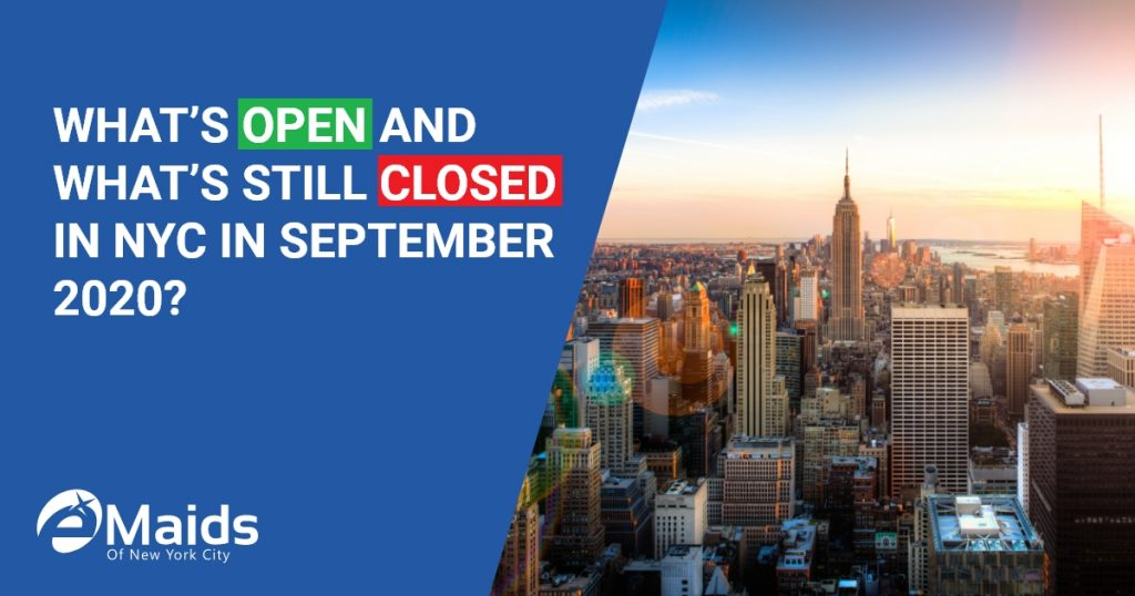 What's Open And What's Still Closed In NYC In September 2020